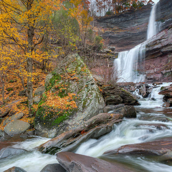 Kaaterskill Clove Photograph - Autumn At Kaaterskill Falls Square by Bill Wakeley
