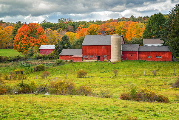 Photograph - Autumn At Kenniston Farm by John Vose