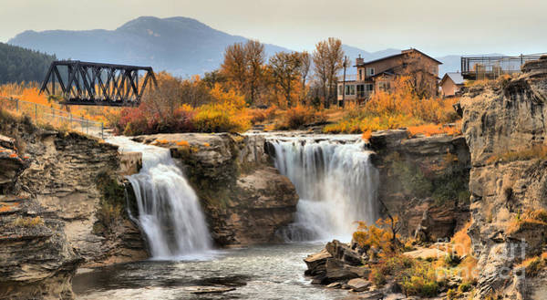 Photograph - Autumn At Lundbreck Falls Provincial Park by Adam Jewell