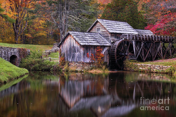 Wall Art - Photograph - Autumn At Mabry Mill by Anthony Heflin