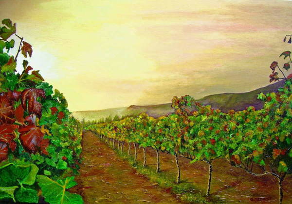 Impressionistic Vineyard Wall Art - Painting - Autumn At Steenberg by Michael Durst