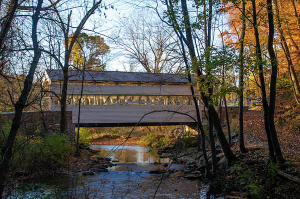 Photograph - Autumn At Valley Creek - Knox Covered Bridge by Bill Cannon