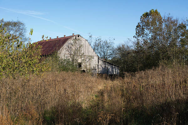 Photograph - Autumn Barn by John Benedict