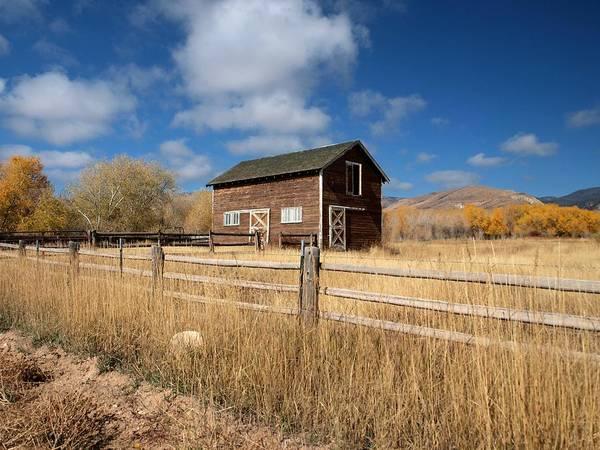 Photograph - Autumn Barn by Joshua House