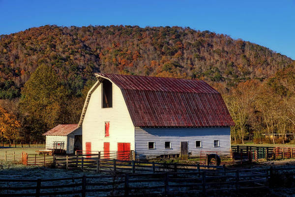 Feedlot Photograph - Autumn Barn by L O C