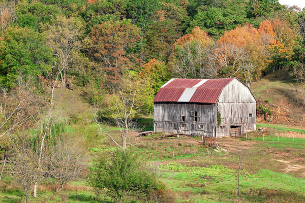 Foilage Photograph - Autumn Barn by Todd Klassy