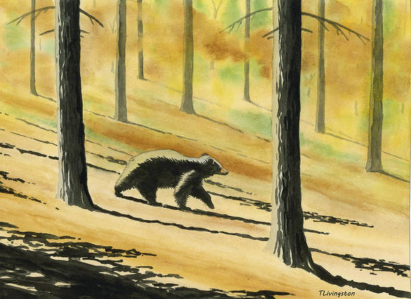 Wall Art - Painting - Autumn Bear by Timothy Livingston