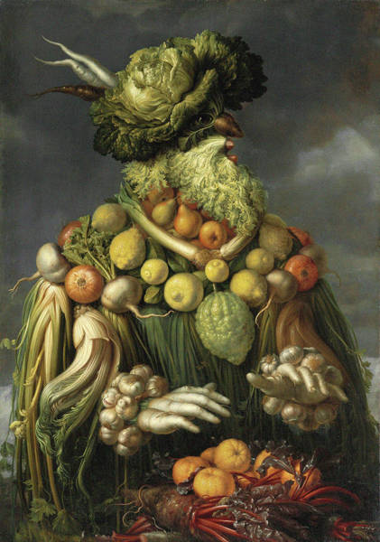 Mustache Painting - Autumn Beard Man by Giuseppe Arcimboldo