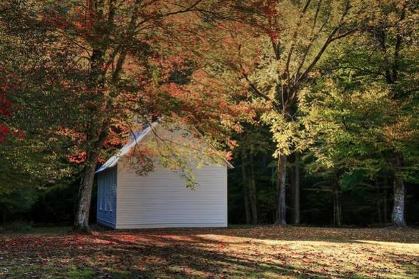 Photograph - Autumn Begins In Cataloochee Palmer Chapel by Carol Montoya