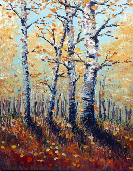 Autumn Birch Art Print by Wesley Pack