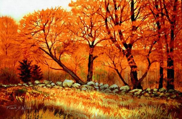 Painting - Autumn Blaze by Frank Wilson