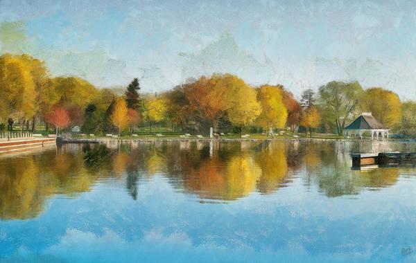Digital Art - Autumn Blues by JGracey Stinson