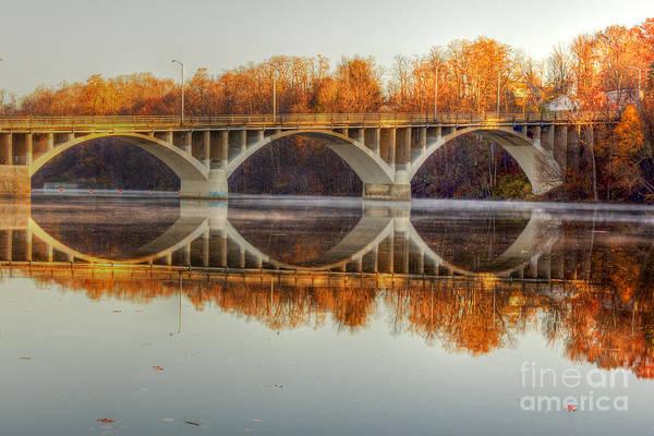 Photograph - Autumn Bridge Reflections by Rod Best