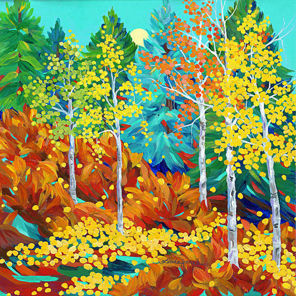 Painting - Autumn Butterflies by Linda Rauch