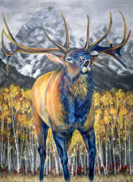 Jackson Hole Wall Art - Painting - Autumn Calls by Teshia Art