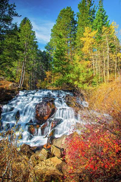 Tioga Photograph - Autumn Cascades In The Sierra by Lynn Bauer