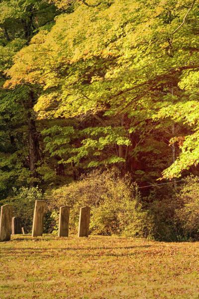 Photograph - Autumn Cemetery by Tom Singleton