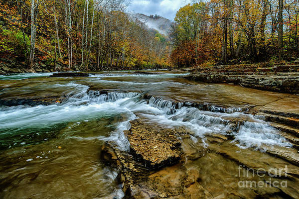 Photograph - Autumn Cherry Falls Elk River by Thomas R Fletcher