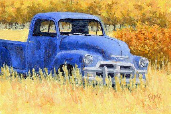 Painting - Autumn Chevy by David King