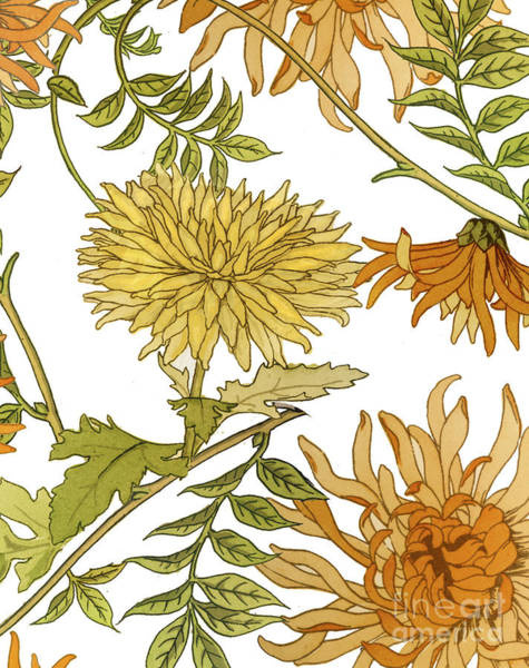 Autumn Wall Art - Painting - Autumn Chrysanthemums II by Mindy Sommers