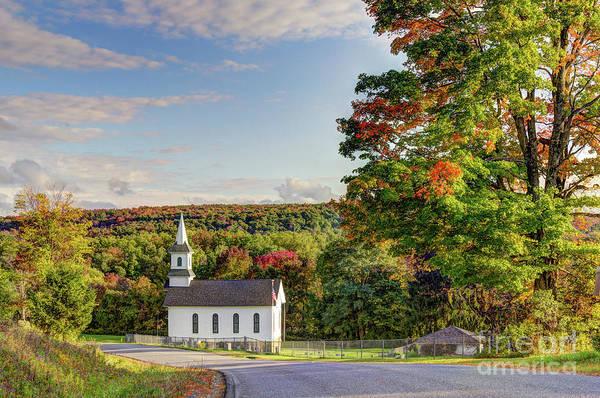 Photograph - Autumn Church II by Rod Best