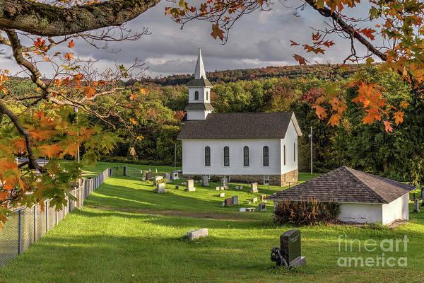 Autumn Church Art Print