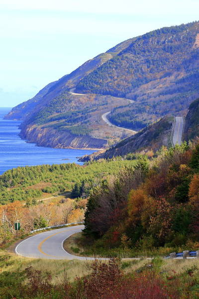 Cabot Trail Photograph - Autumn Color On The Cabot Trail, Cape Breton, Canada by Gary Corbett