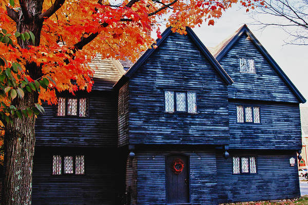 Photograph - Autumn Color Over Witch House by Jeff Folger