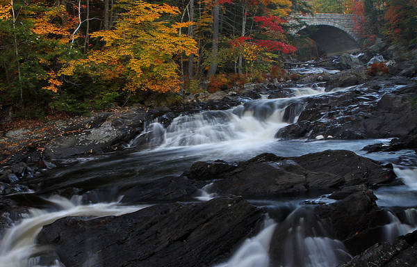 Photograph - Autumn Colors At Smith River Cascade by Juergen Roth