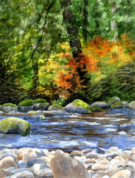 Wall Art - Painting - Autumn Colors In A Forest by Sharon Freeman