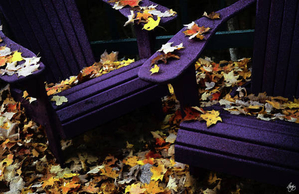 Photograph - Autumn Colors On The Deck by Wayne King
