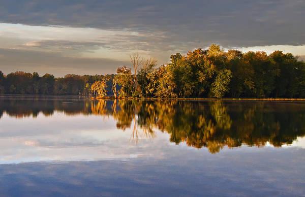 Autumn Colors On The Savannah River Art Print by Michael Whitaker