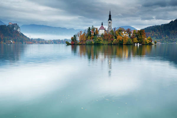 Wall Art - Photograph - Autumn Colours At Lake Bled by Ian Middleton