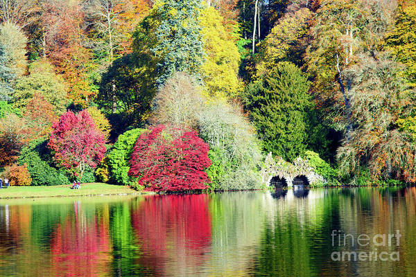 Stourhead Photograph - Autumn Colours By The Lake by Colin Rayner