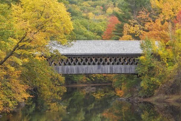 Henniker Photograph - Autumn Covered Bridge In Henniker, Nh by Scott Snyder