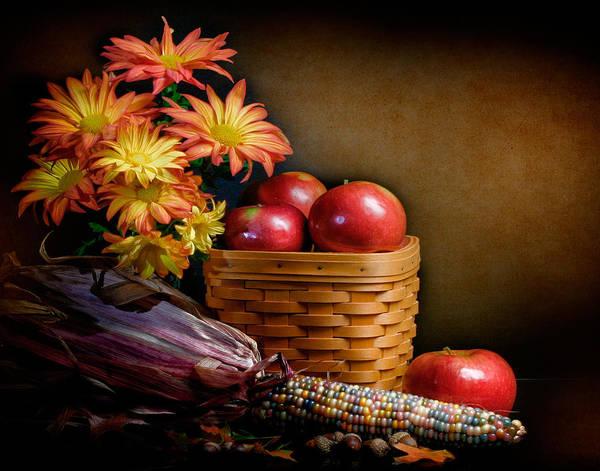 Corn Wall Art - Photograph - Autumn by David and Carol Kelly
