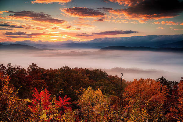 Wall Art - Photograph - Autumn Dawn In The Smokies by Andrew Soundarajan