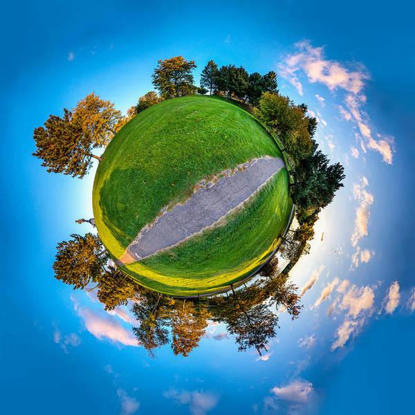 Photograph - Autumn Dawn Intersect by Chris Bordeleau