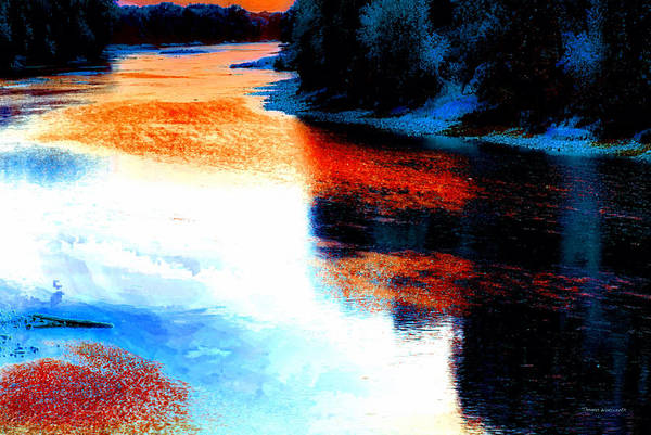 Doona Mixed Media - Autumn Down By The River by Thomas Woolworth
