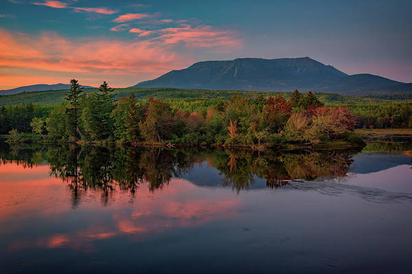 Wall Art - Photograph - Autumn Dusk At Mount Katahdin by Rick Berk