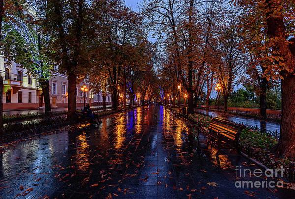 Evening Wall Art - Photograph - Promenade In Odessa by Viktor Birkus