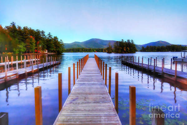 Bolton Landing Wall Art - Photograph - Autumn Evening In Huddle Bay On Lake George New York by Linda Ouellette