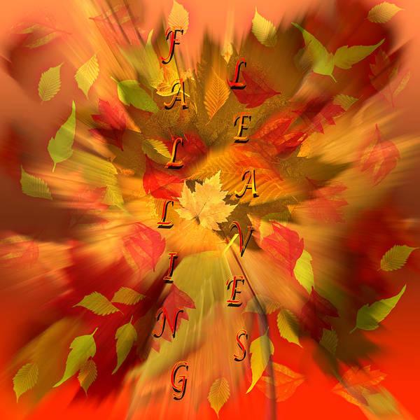 Description Digital Art - Autumn - Falling Leaves by Steve Ohlsen