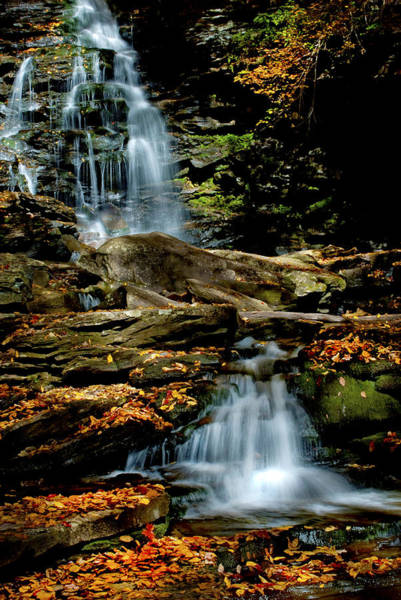 Photograph - Autumn Falls - 2885 by Paul W Faust - Impressions of Light