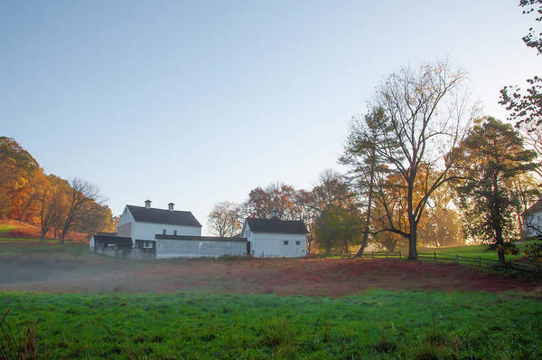 Photograph - Autumn - Farm At Valley Forge by Bill Cannon