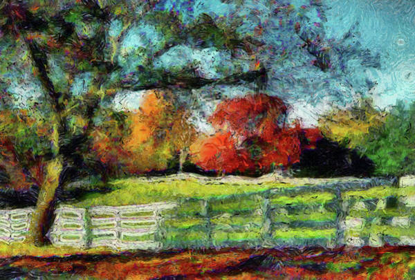 Autumn Field On The Farm Art Print
