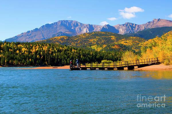 Photograph - Autumn Fishing On Crystal Reservoir by Steve Krull