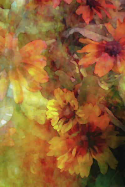 Photograph - Autumn Flowers Color 3798 Dp_3 by Steven Ward