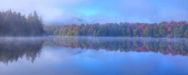 Photograph - Autumn Fog Lifting by David Patterson