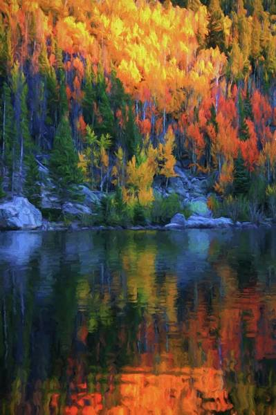 Reflections Mixed Media - Autumn Foliage Reflection Bear Lake by Dan Sproul